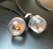 2 x Mini clignotants Led moto Café racer Custom Roadster Scrambler