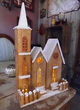 INVERNALE Decorazione natalizia CHIESA 50cm Villaggio ILLUMINAZIONE Di Natale