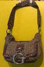 Guess Metallic Handbag Big Bling G Emblem Buckle Small Shoulder Purse Bag