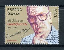 España 2017 estampillada sin montar o nunca montada Camilo J Cela centenario nacimiento 1 V escritores conjunto de sellos de literatura