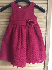 Beautiful American Princess Layered Red Dress, Age 3 Years, Christmas Party (A8)