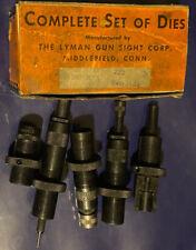 Vintage Lyman Ideal 222 complete set reloading dies