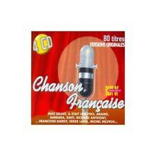 RARE chanson française 4CD 80T brant,anthony,christophe,adamo,dave,barbara,piaf
