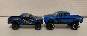 Hot Wheels Dodge Ram 1500 And Ford 150 Raptor 2 Car Lot