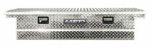 Deflecta-Shield Aluminum 9100LP Tool Box - Truck Bed Rail-to-Rail