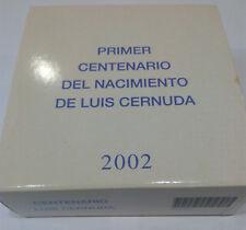 ESPAÑA. 2002. 10 EURO EN PLATA. PRIMER CENTENARIO DE LUIS CERNUDA. FNMT