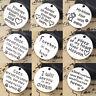5 PCs Antique Silver Alloy Round Pet Memorial Message Carved Charms Pendants