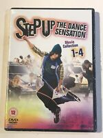 STEP UP THE DANCE SENSATION MOVIE COLLECTION 1-4 DVD BUNDLE NEW AND SEALED