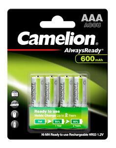 4 Stück Camelion Akku Solar 600mAh AAA Micro für zB. Solar Gartenleuchte Leuchte