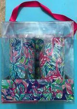 Lilly Pulitzer Styrene Plastic Printed Glasses Set of 4~19 fl oz each NEW in BOX