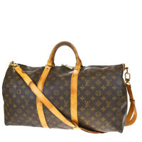 AUTH LOUIS VUITTON KEEPALL 50 BANDOULIERE 2WAY HAND BAG MONOGRAM M41416 70MF227