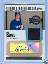 MAT GAMEL 2009 TOPPS TICKET TO STARDOM AUTO JERSEY /489