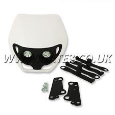 Apico Alien Style White Universal Twin Headlamp Enduro Supermoto Headlight