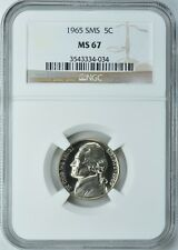 1965 JEFFERSON SMS PROOF-LIKE NICKEL 5c NGC MS67