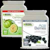 60 Aaci Berry 60 Garcinia Cambogia 1000mg SUPER STRONG Weight Loss Diet Pills