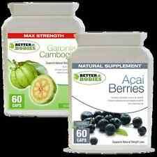 60 Aaci Berry 60 Garcinia Cambogia 1000mg SUPER STRONG Weight Loss Diet Pills