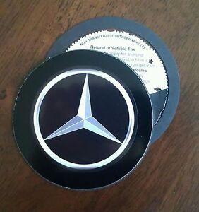 Magnetic Tax disc holder fits any mercedes amg slk a b c e class a smart