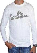 fm10 camiseta de manga larga unisex VESPA 2 estampado PLATA moto scooter MÍTICO