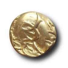 5 sehr extravagante große edle goldfarbene Metall Knöpfe (3103go-25mm)