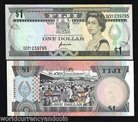 FIJI 1 DOLLAR P89 1993 FRUIT QUEEN UNC RUNNING # 3 PCS LOT MONEY BANK NOTE