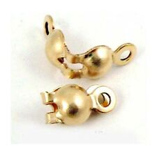 20x 14k Gold Filled Clam Shell Bead Tip Knot COVERs with loop made in USA GF20