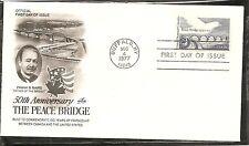 US SC # 1721 Peace Bridge FDC. Unaddressed Artcraft Cachet.