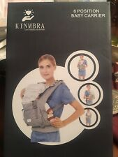 Kinmbra New Design Baby Carrier with Hip seat for infant & Toddlers (Gray) Nib