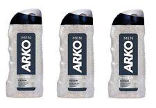 3x Arko Men Shower Gel Duschgel Shampoo Platinum 250ml Herren Pflege