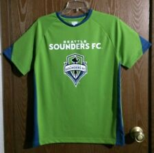 "Seattle Sounders FC 14/16 LG Youth 38"" Chest Green Blue Soccer Shirt"