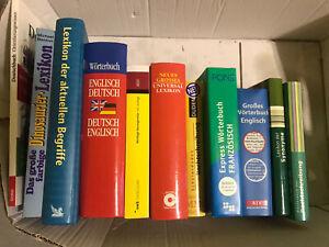 Bücherpaket (11 Bücher in gutem Zustand)Wörterbucher, Lexikon, Duden und Ä