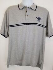 Vntg Hard Rock CAFE  Polo Shirt Size Large - Gray - DALLAS TEXAS USA Made