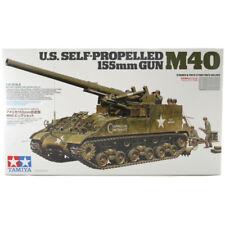 Tamiya U.s. M40 auto propulsado 155 mm Pistola Modelo Set (escala 1:35) 35351 Nuevo