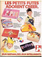 Publicité Advertising 1981 Les Jeux Jouets nathan