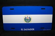 EL SALVADOR FLAG METAL NOVELTY LICENSE PLATE FOR CARS EL SALVADOR BANDERA