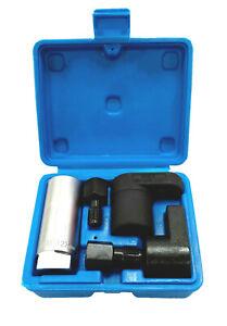 "5pc Deep Oxygen Sensor Socket Repair Thread Chaser 3/8"" & 1/2"" Set 22mm (7/8"")"