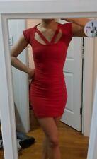 Bebe XXS Red Bodycon Mini Dress