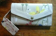 HERITAGE FLORAL Cotton/PEVA ALL FOR COLOR CLUTCH Wallet/Credit Card 110938