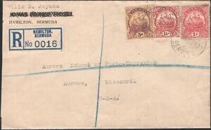 BERMUDA, 1934. Reg 83,84,89, Hamilton - Aurora, MO