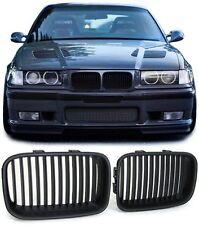 2 GRILLE DE CALANDRE NOIR BAD LOOK BMW SERIE 3 E36 PHASE 1 DE 1990 A 08/1996