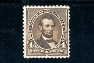 USAstamps Unused FVF US 1890 Issue Lincoln Scott 222 NG