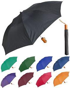 "Lot of 12- 42"" Arc Solid Collapsible Auto-Open Umbrella - RainStoppers, Rain/Sun"