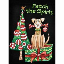 "Fetch The Spirit Dog Sm Garden Flag 12.5"" X 18"" Seasonal 11-2825-110 Fall Rain"