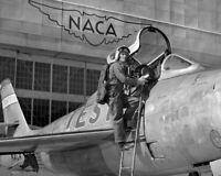 8x10 Print NACA Test Pilot G. Cooper Republic F-84F Moffett Field #75004