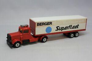 "Matchbox Lesney Convoy TP-24 LONG HAUL with "" PROMOTIONAL BERGER SUPERFLEET """