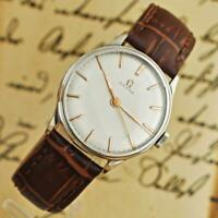 SERVICED OMEGA FROM 1930' MANUAL WIND CAL 30SC GENUINE SWISS VINTAGE WATCH STEEL