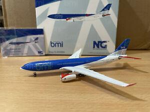 BMI British Midland A330-200 1:400 (Reg G-WWBN) NG61019 NG Models