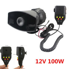 12V 100W 3-Tone Car Truck Emergency Sound Recording Speaker Siren Alarm Horn Kit