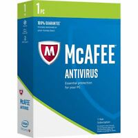 MCAFEE ANTIVIRUS PLUS 2018 - 1 DEVICE - 1 YR PC MAC ANDROID IOS IPHONE