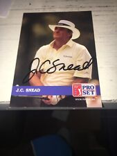 JC Snead Signed 1992 Golf Card