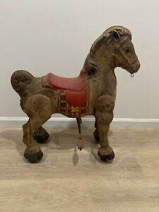 Vintage Antique Mobo Bronco Kids Ride On Horse Made In ENGLAND Metal